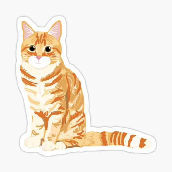 Ginger Tabby Cat Sticker
