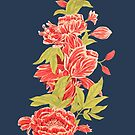 Bountiful - a floral piece - Blue by EverhardDesigns