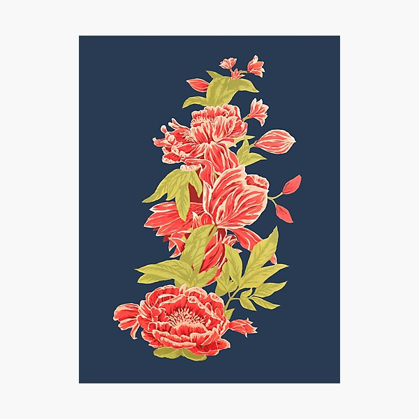 Bountiful - a floral piece - Blue Photographic Print