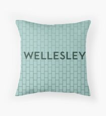 WELLESLEY Subway Station Throw Pillow