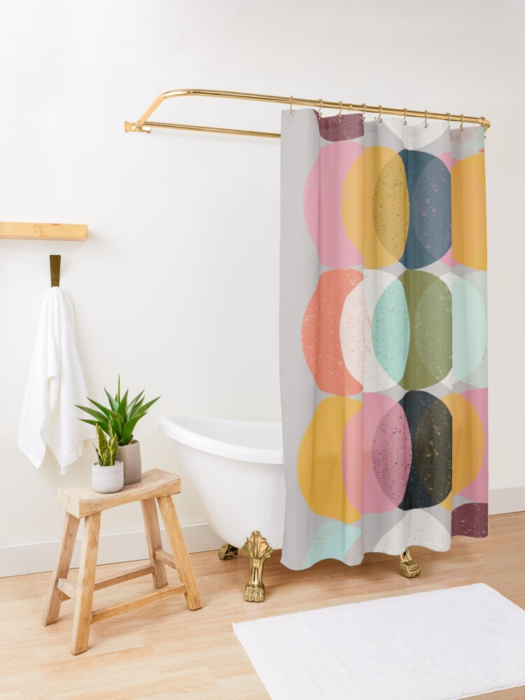 Alternate view of Moods & Moons Shower Curtain