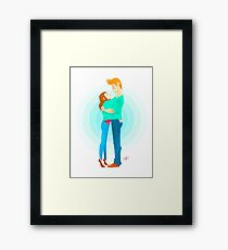 Community: Jeff & Annie Hugging  Framed Print