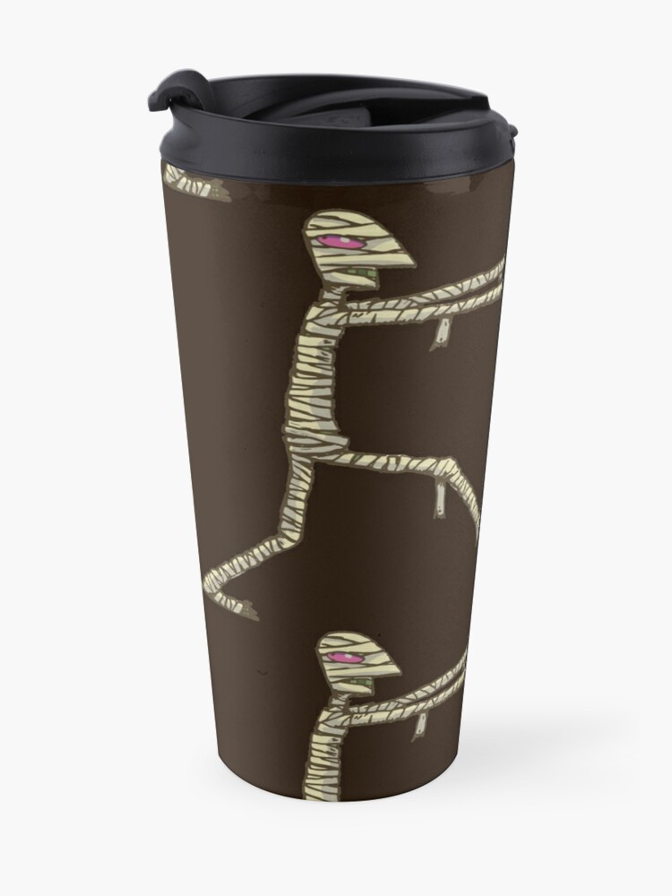 Alternate view of mummy with red eyes Travel Mug