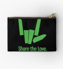 share the love Zipper Pouch