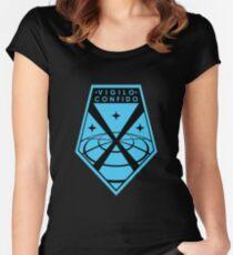 """""""Vigilo Confido"""" XCOM Logo Fitted Scoop T-Shirt"""