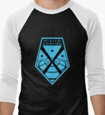 """Vigilo Confido"" XCOM Logo Men's Baseball ¾ T-Shirt"