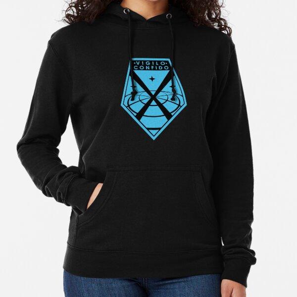 """""""Vigilo Confido"""" XCOM Logo Lightweight Hoodie"""