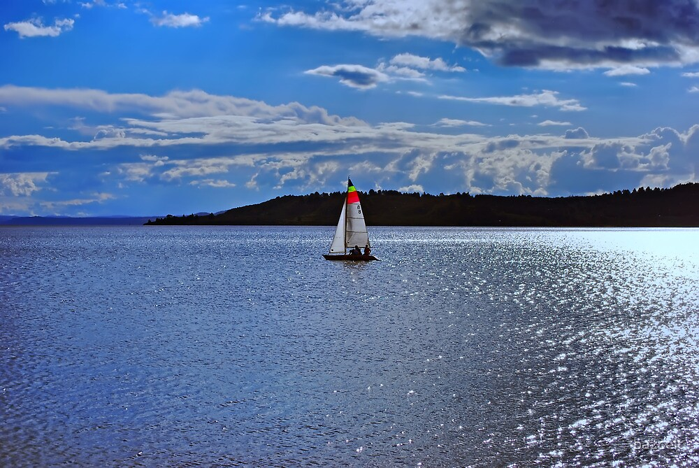 Sailing Bliss on the Lake by bazcelt