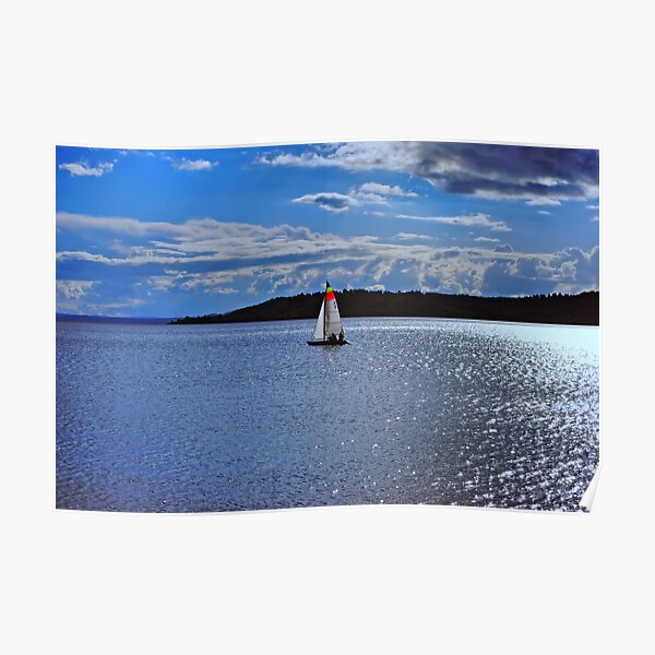Sailing Bliss on the Lake Poster