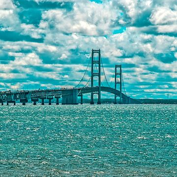 The Mackinac Bridge by mtbearded1