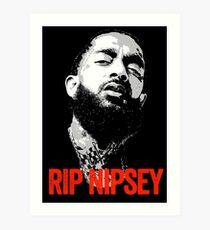 Nipsey Hussle Rest In Peace Kunstdruck