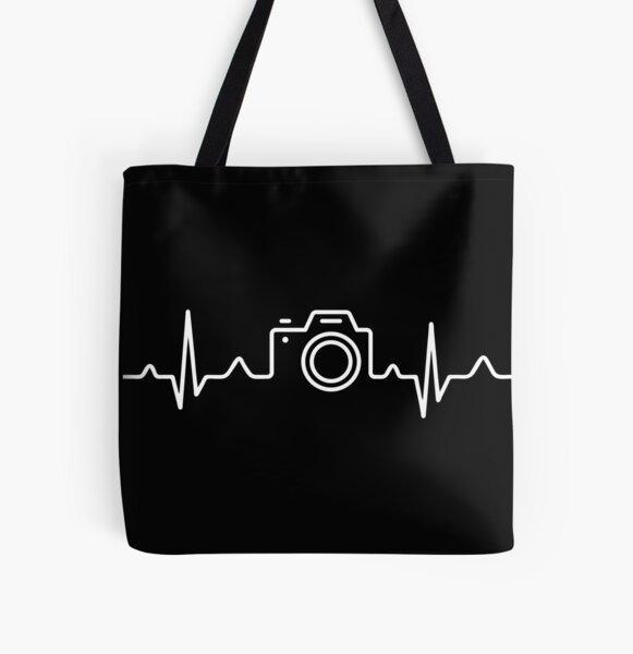 HEARTBEAT CAMERA (white) All Over Print Tote Bag