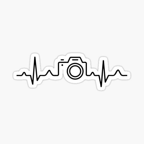 HEARTBEAT CAMERA (white) Sticker