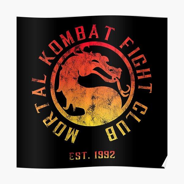 Mortal Kombat Fight Club | Mortal Kombat 11 | Distressed Color Logo Poster