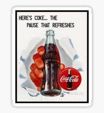Pegatina Coca Cola Vintage Ads. Póster