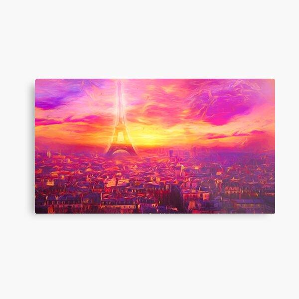 Pink Paris Metallbild