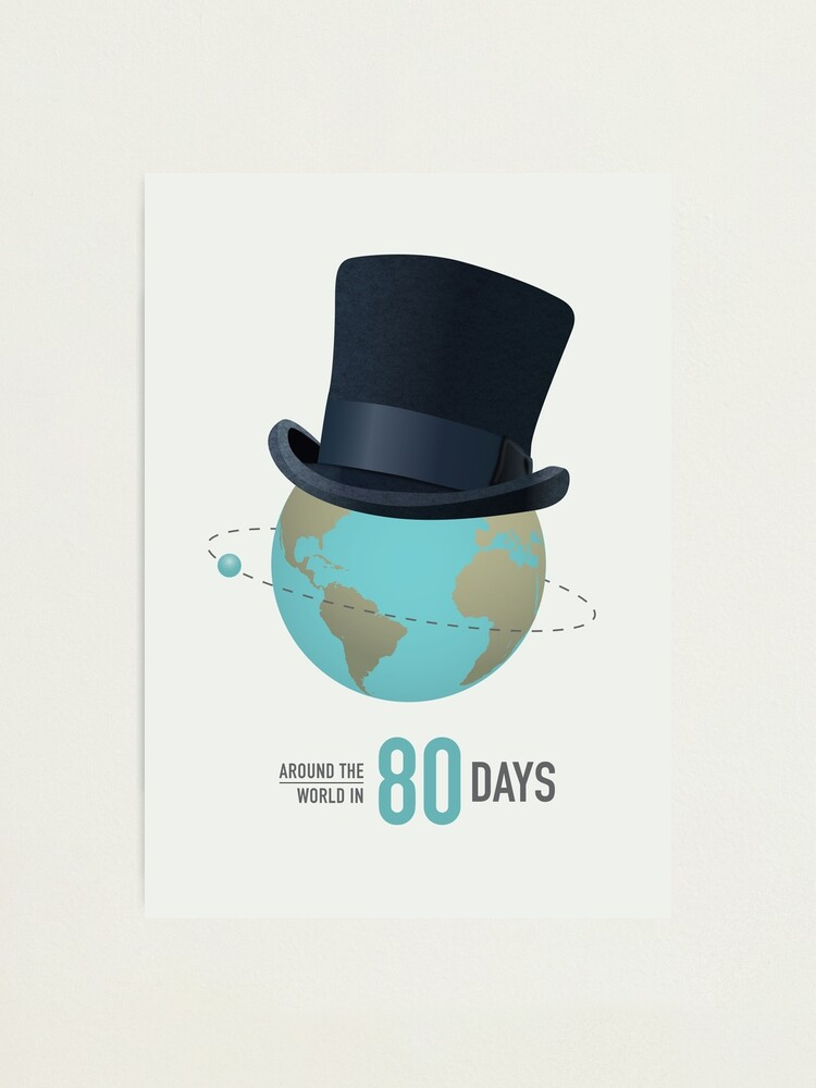 Alternate view of Around the World in 80 Days - Alternative Movie Poster Photographic Print