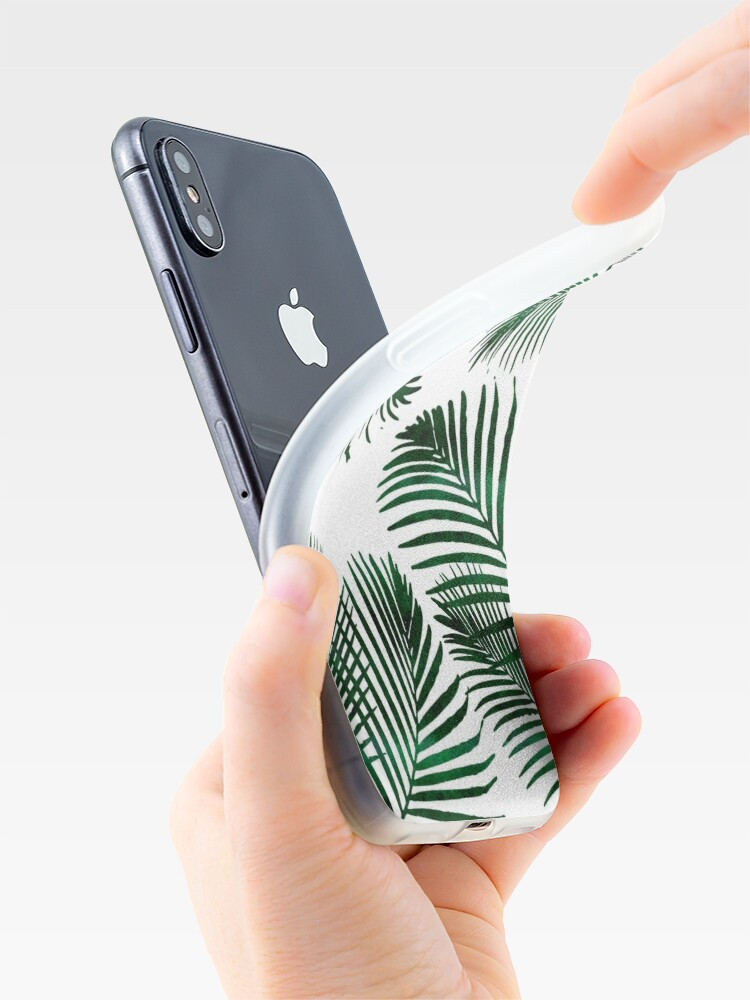 Alternate view of Tropical Palm Leaf iPhone Case & Cover