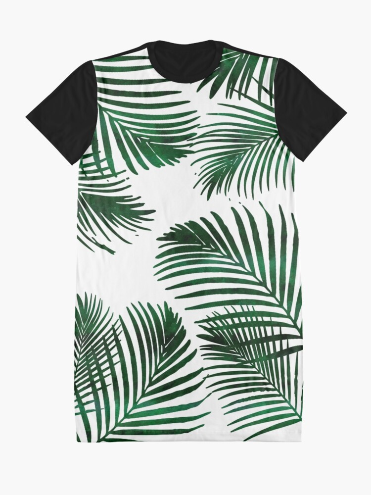 Alternate view of Tropical Palm Leaf Graphic T-Shirt Dress