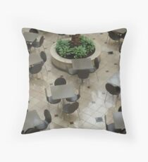 Dancing To The Tune Of The Palm © Throw Pillow