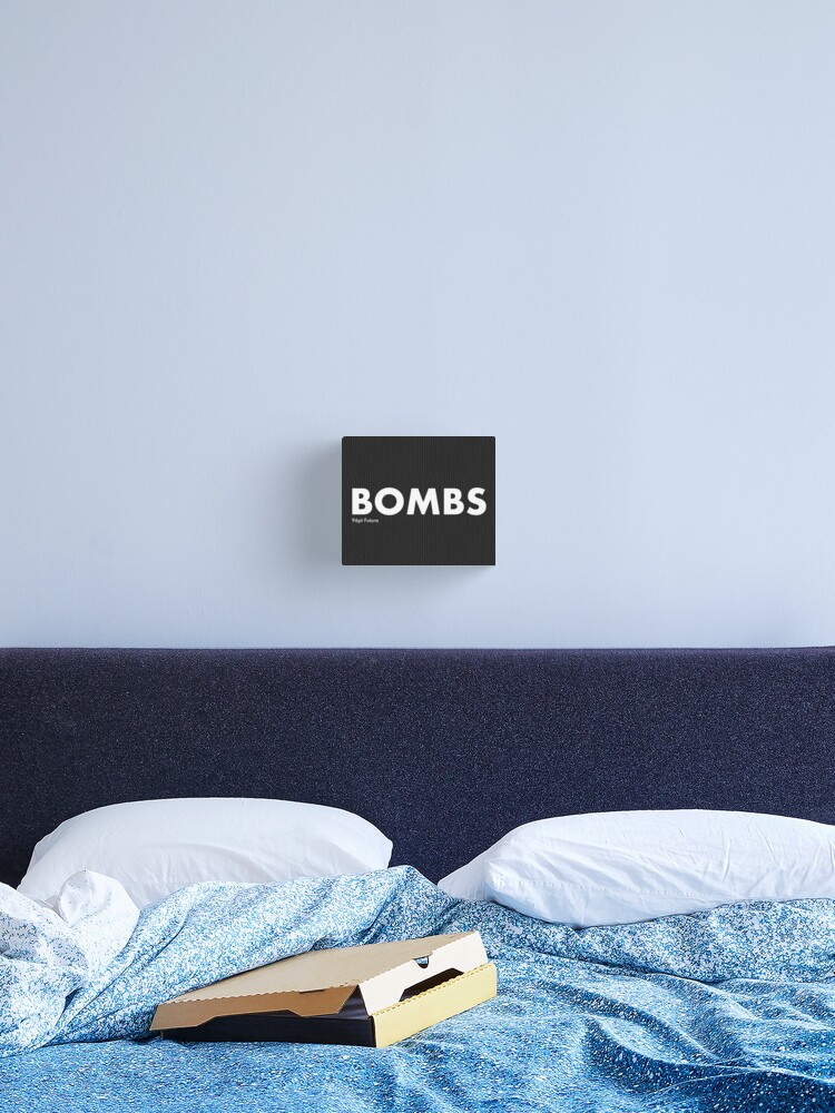 The Word Bombs Blown Up To 96pt Futura Vampire Weekend Canvas Print By Overflowhidden Redbubble
