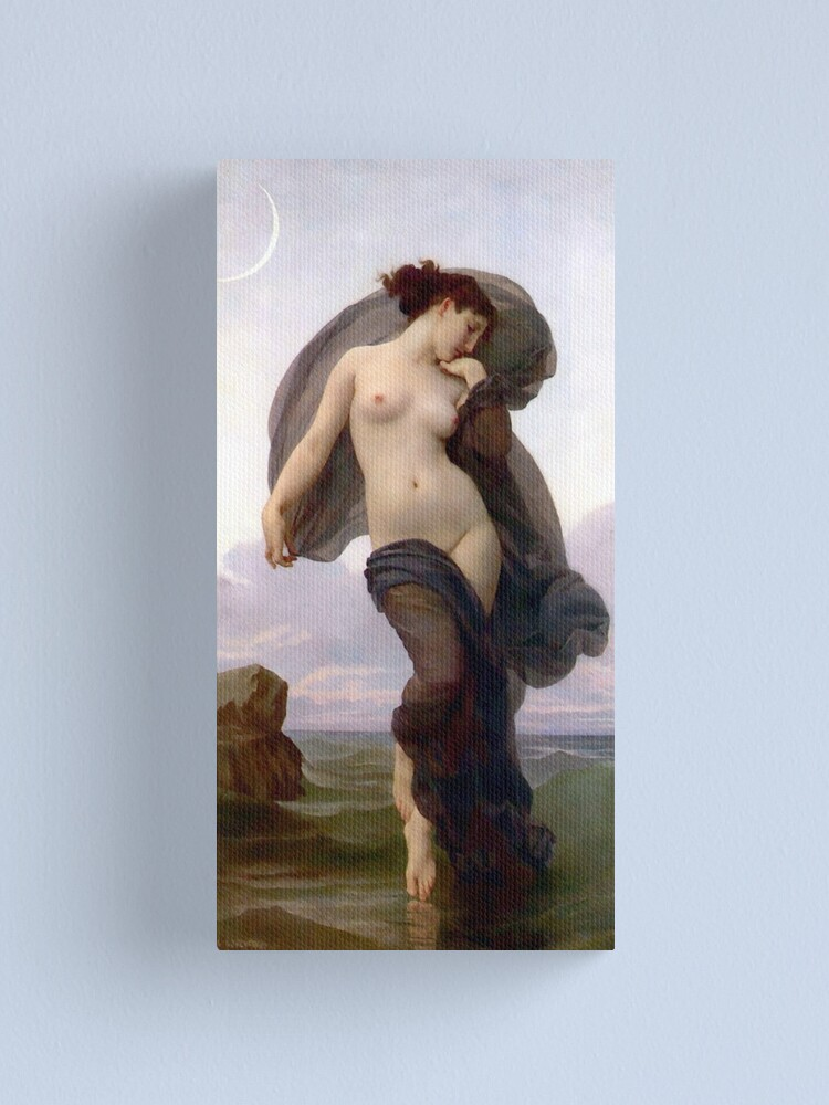 Alternate view of Evening Mood painting by William-Adolphe Bouguereau Canvas Print