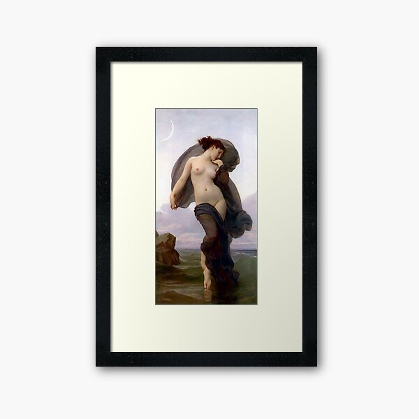 Evening Mood painting by William-Adolphe Bouguereau Framed Art Print