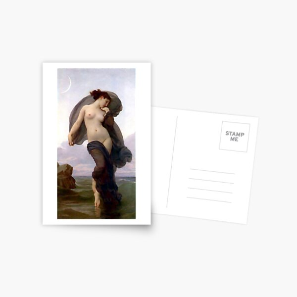 Evening Mood painting by William-Adolphe Bouguereau Postcard
