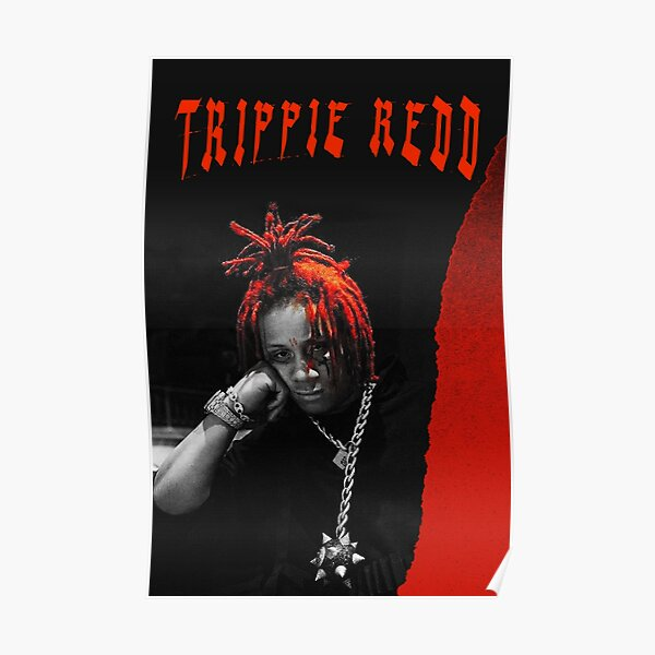 Black and Red grunge poster Poster