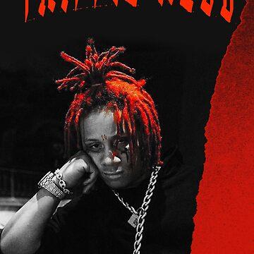Schwarzes und rotes grunge Plakat von thatyoungyork