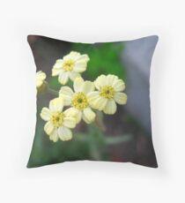Mini Bouquet of Yellow Sweetness Throw Pillow