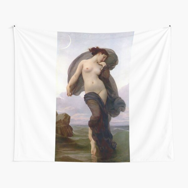 Evening Mood painting by William-Adolphe Bouguereau Tapestry
