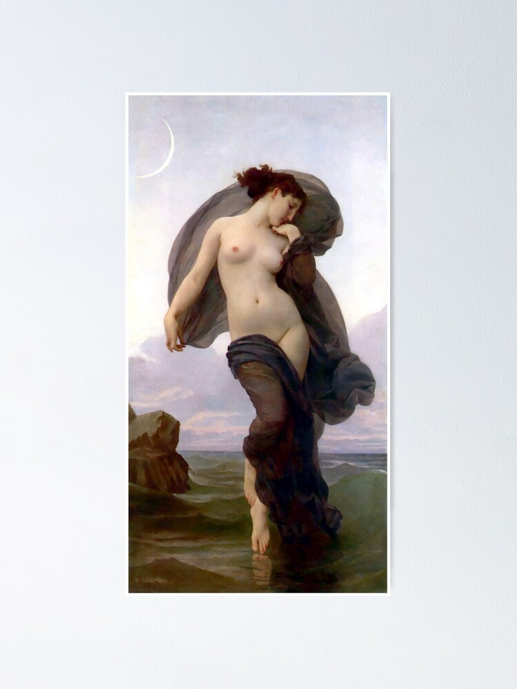 Alternate view of Evening Mood painting by William-Adolphe Bouguereau Poster