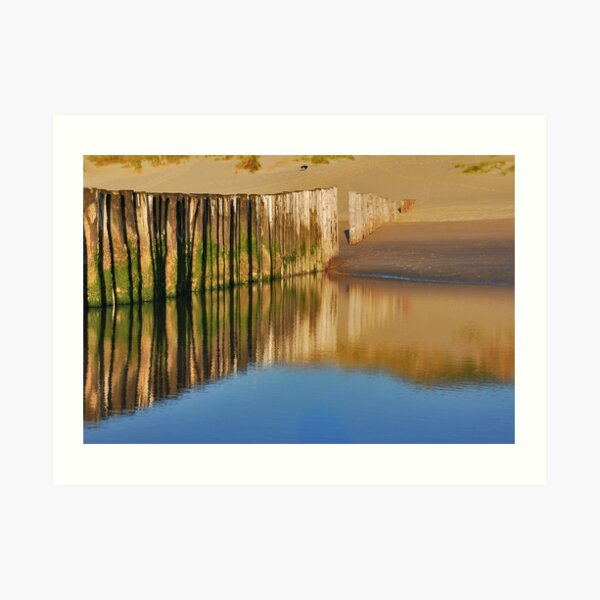 Reflections on the beach Art Print