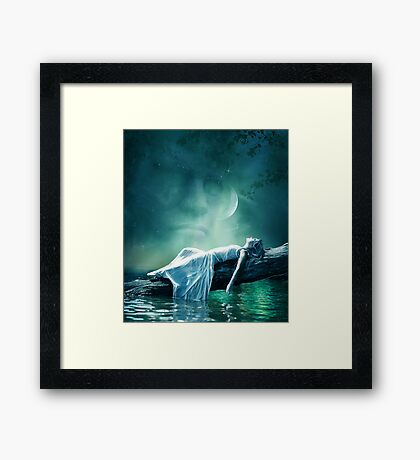 Dreams and fantasy : the Evening star Framed Print