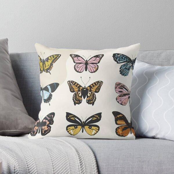 Butterfly Sticker Pack Throw Pillow
