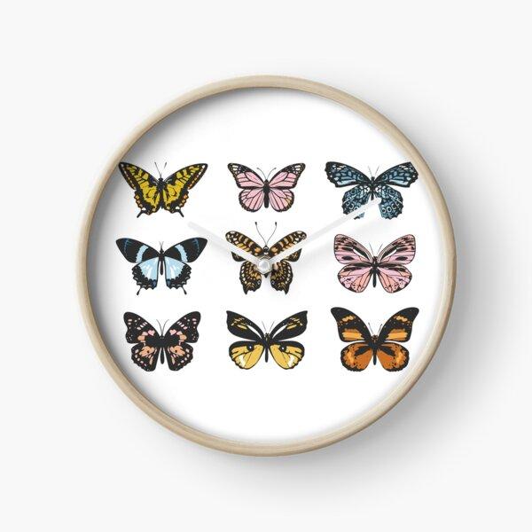 Butterfly Sticker Pack Clock