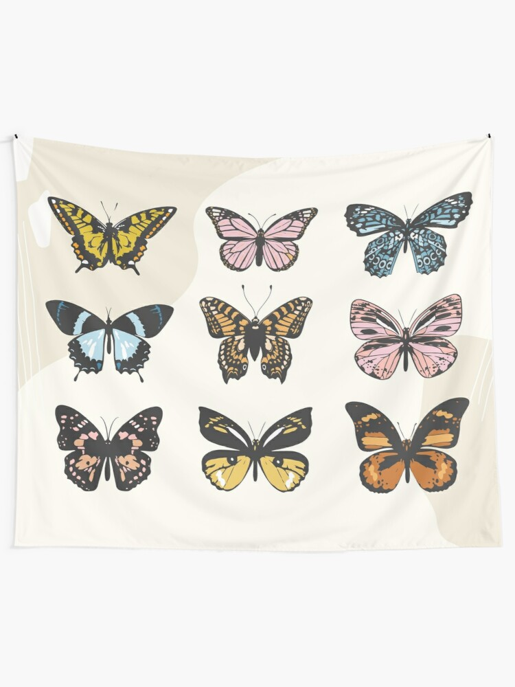Alternate view of Butterfly Sticker Pack Tapestry
