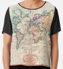 Vintage World Map 1801 Chiffon Top