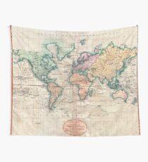 Weinlese-Weltkarte 1801 Wandbehang