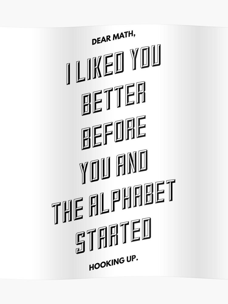Alphabet Hook up liste