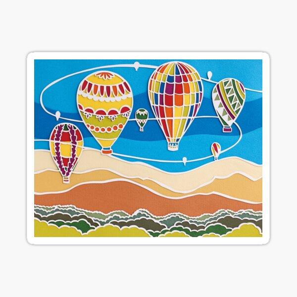 Basking Hot Air Balloons Sticker