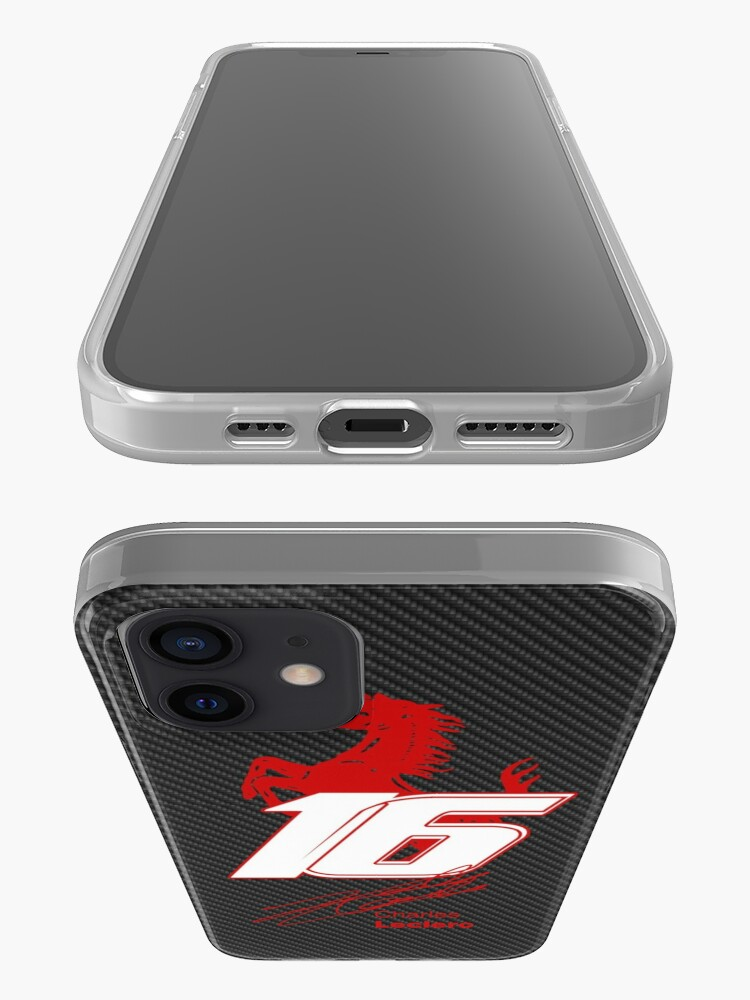Alternate view of 2020 Charles Leclerc Carbon fiber edition iPhone Case & Cover