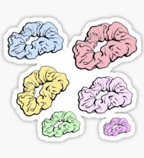 bunte Scrunchie-Packung Sticker