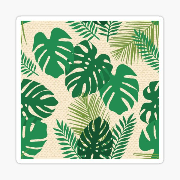 Tropical leaves Sticker