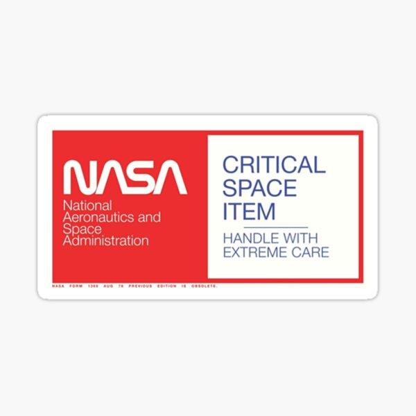 NASA- Critical Space Item Sticker