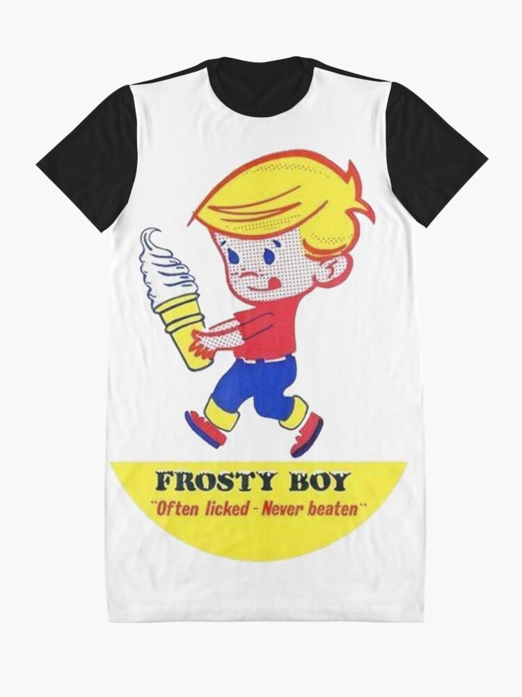 Alternate view of Frosty Boy Ice Cream Graphic T-Shirt Dress