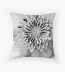 Paper kanzashi flower Throw Pillow