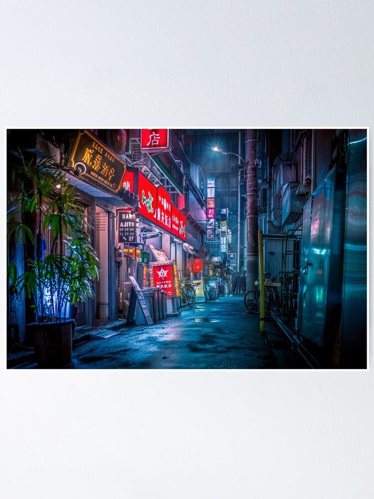 Alternate view of Heavy Rain Over Neo Tokyo Poster