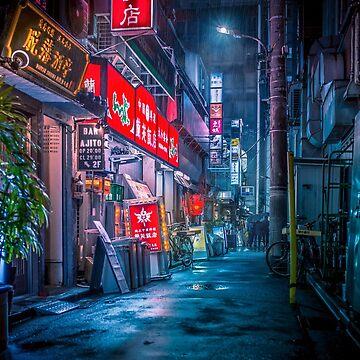 Fuertes lluvias sobre Neo Tokio de TokyoLuv